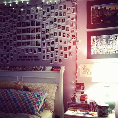 как украсить комнату фотографиями